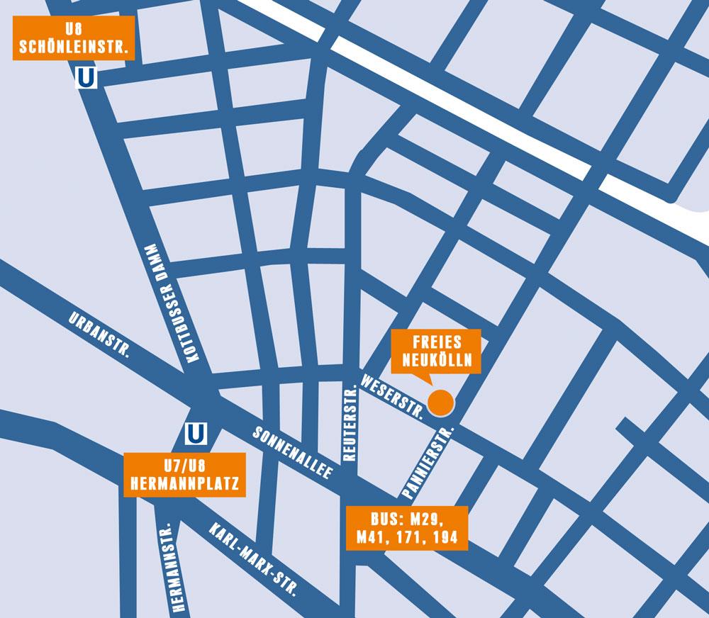 Karte »Freies Neukölln« Berlin